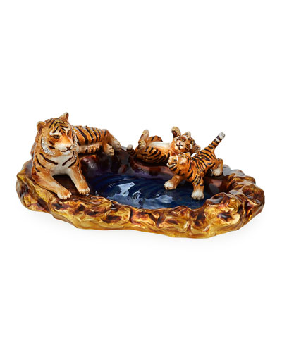Tiger and Cubs Tray