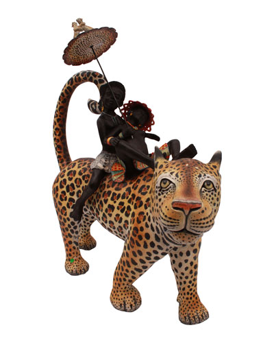 Leopard Rider Decoration