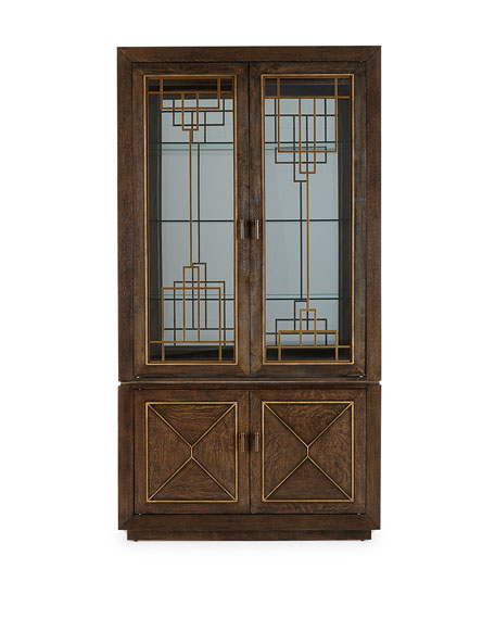 Blakely Lighted Curio Cabinet