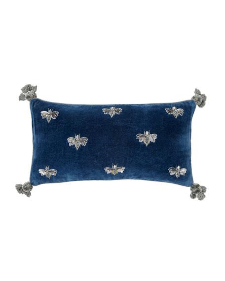 Joanna Buchanan Embroidered Pretty Bug Pillow