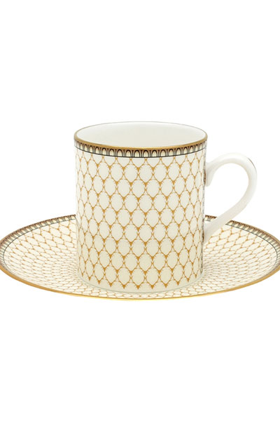 Antler Trellis Coffee Cup & Saucer