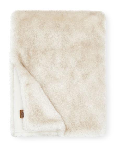 """Firn Faux Fur Throw Blanket, 50"""" x 70"""""""