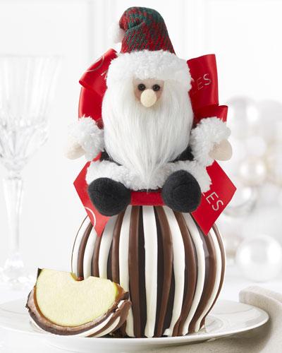 Tartan Santa Triple Chocolate Jumbo Caramel Apple