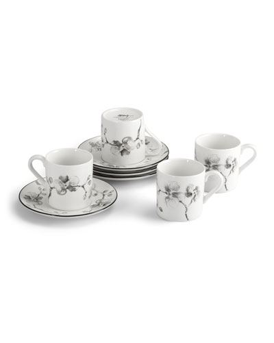 Black Orchid Demitasse Set