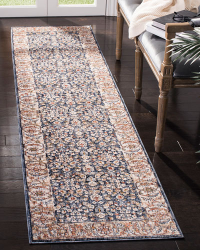 Carlingford Navy Power-Loomed Runner  2' x 10'
