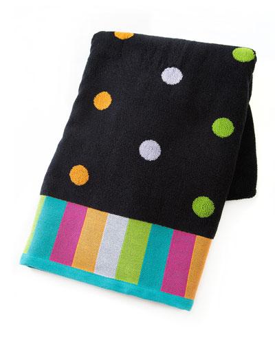 Trampoline Dot Bath Towel  Black