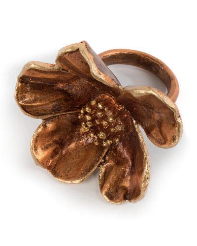 Autumn Magnolia Napkin Ring