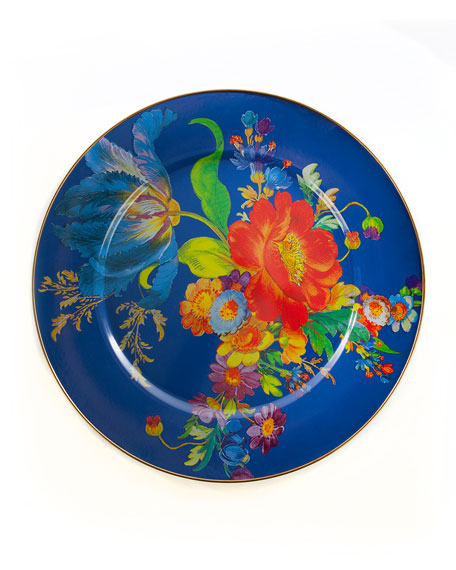 MacKenzie-Childs Flower Market Serving Platter, Lapis