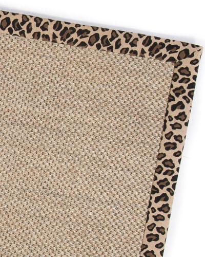 Leopard Sisal Rug  2' x 3'