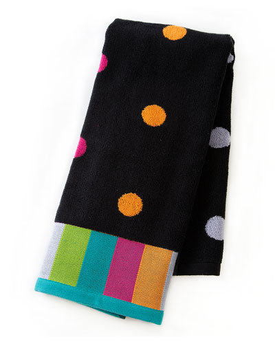 Trampoline Dot Hand Towel  Black