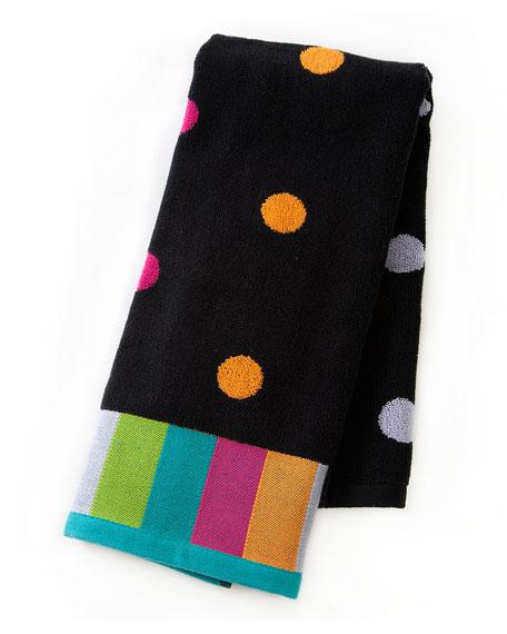Trampoline Dot Hand Towel, Black