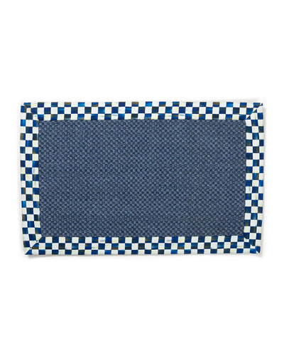 Royal Check Blue Sisal Rug  2' x 3'