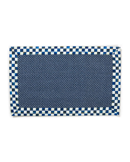 MacKenzie-Childs Royal Check Blue Sisal Rug, 2' x