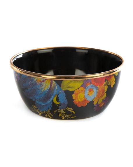 MacKenzie-Childs Flower Market Pinch Bowl, Black