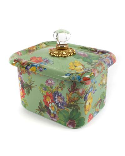 Flower Market Recipe Box  Green