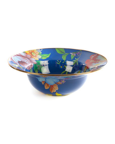 MacKenzie-Childs Flower Market Serving Bowl, Lapis