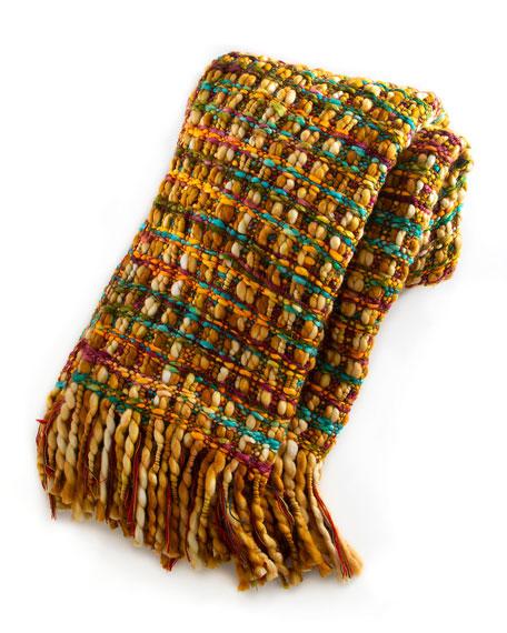 Basket Weave Golden Rod Throw