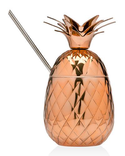 Copper Pineapple Cocktail Shaker