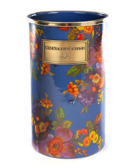 MacKenzie-Childs Flower Market Utensil Holder, Lapis