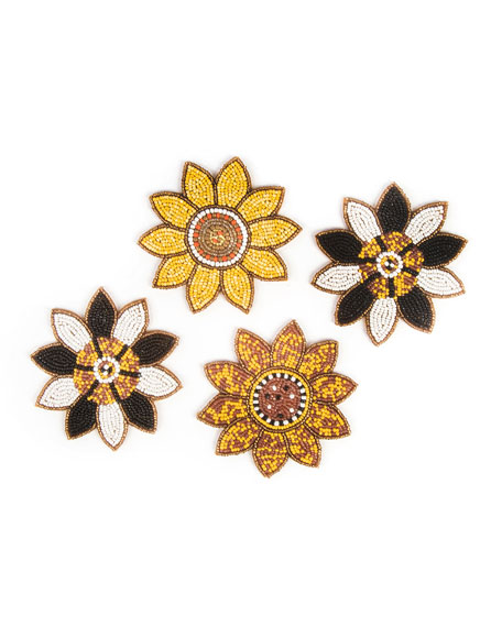 Sunflower Coasters, Set of 4
