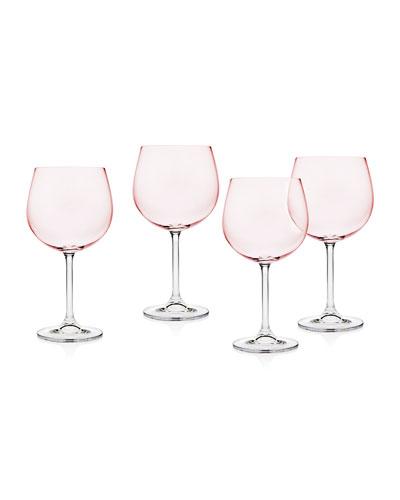Meridian Blush Goblets  Set of 4