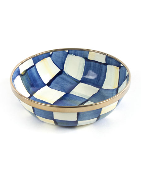MacKenzie-Childs Royal Check Relish Dish