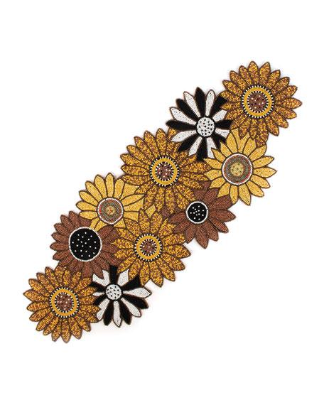 Sunflower Beaded Table Runner