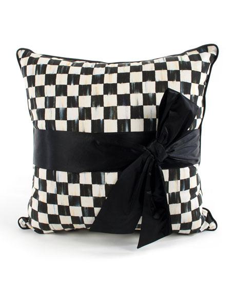Courtly Check Sash Pillow
