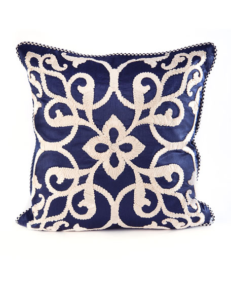 Byzantine Pillow, Navy