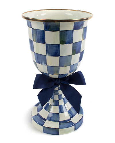 Royal Check Pedestal Vase