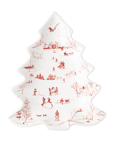 Juliska Country Estate Ruby Medium Tree Platter