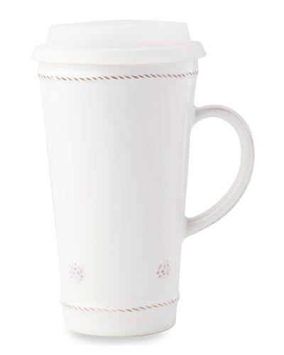 Berry & Thread Whitewash Travel Mug with Silicone Lid