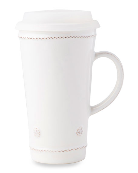 Juliska Berry & Thread Whitewash Travel Mug with