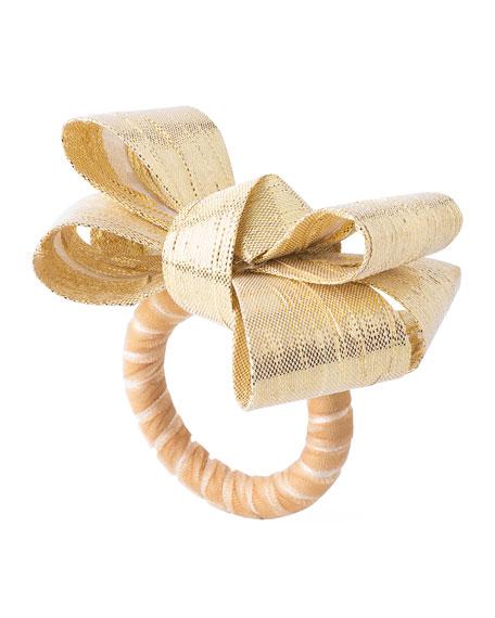 Juliska Tuxedo Gold Napkin Ring