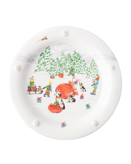 Berry & Thread North Pole Cocktail Plates, Set of 4