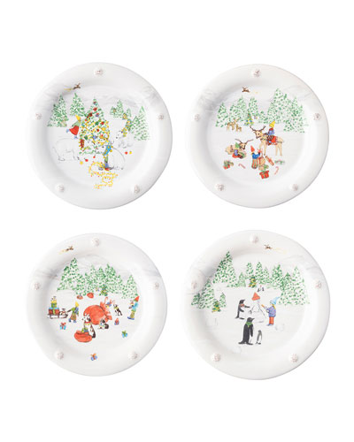Berry & Thread North Pole Cocktail Plates  Set of 4