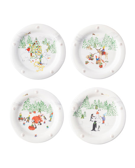 Juliska Berry & Thread North Pole Cocktail Plates,