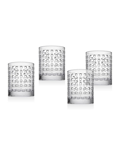 West Street Double Old-Fashioned Glasses  Set of 4
