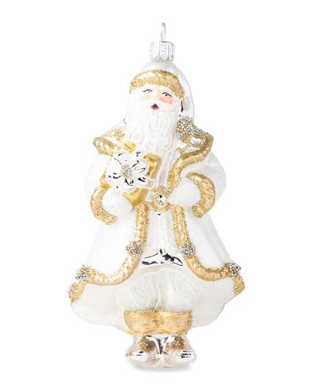 Juliska Berry & Thread Gold/Silver Santa Ornament