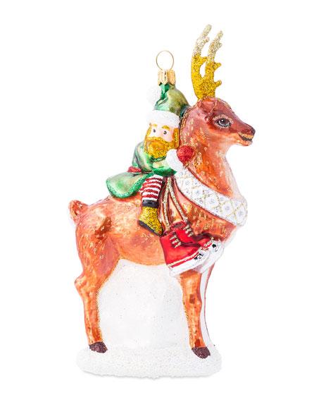 Juliska Country Estate Reindeer Games Dancer with Elf