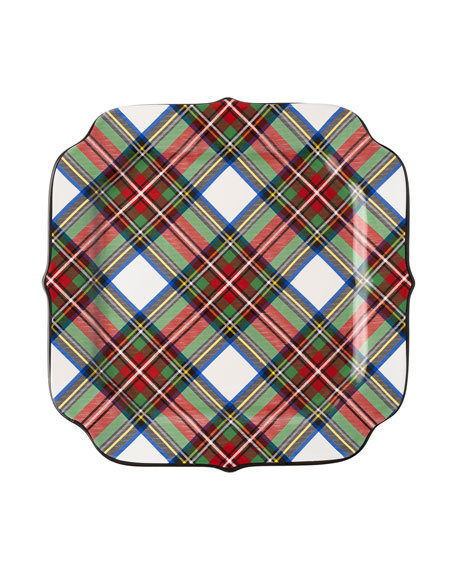 Juliska Stewart Tartan Cookie Tray