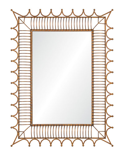 Antiqued Iron Gold Mirror
