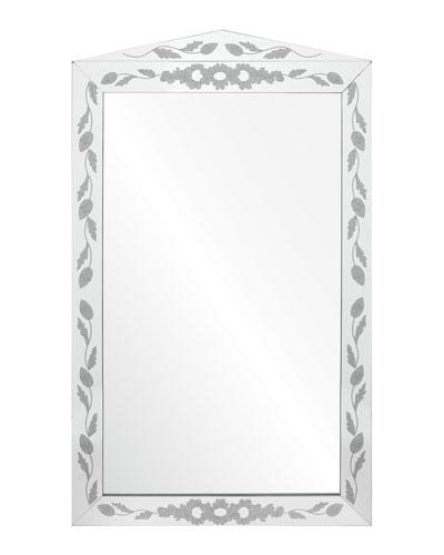 Etched Mirror Framed Mirror