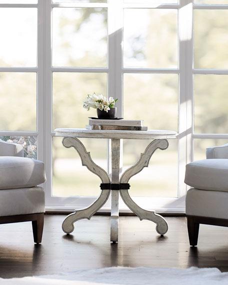 Bernhardt Mirabelle Curved Leg Side Table