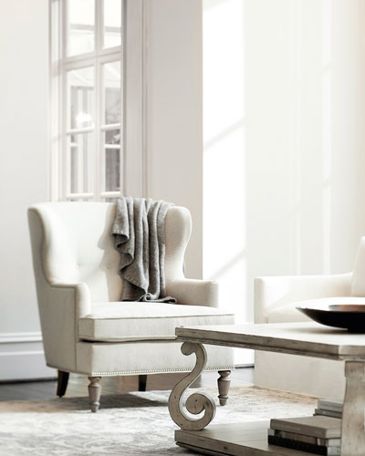 Nadine Button Tufted Wing Chair