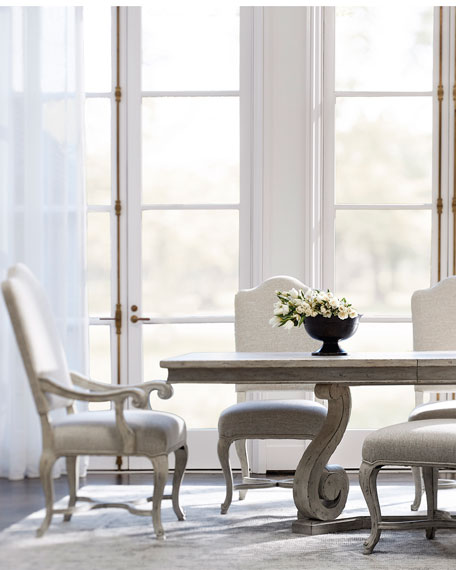 Mirabelle Scrolled Trestle Dining Table