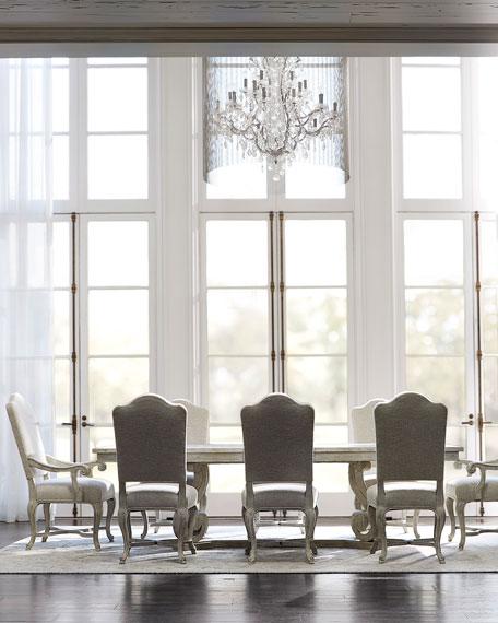 Bernhardt Mirabelle Scrolled Trestle Dining Table