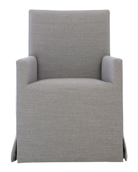 Mirabelle Slip Cover Look Arm Chair