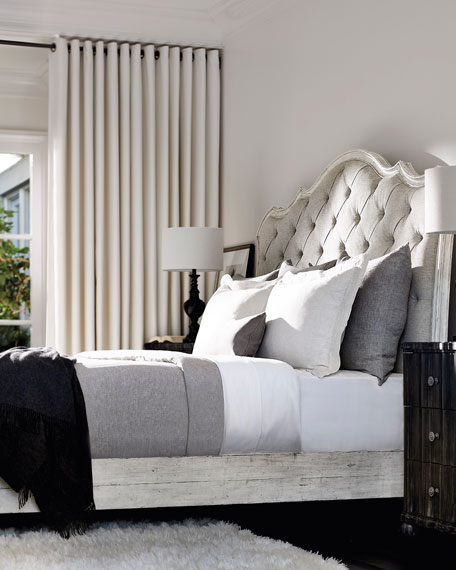 Mirabelle Button-Tufted Queen Bed