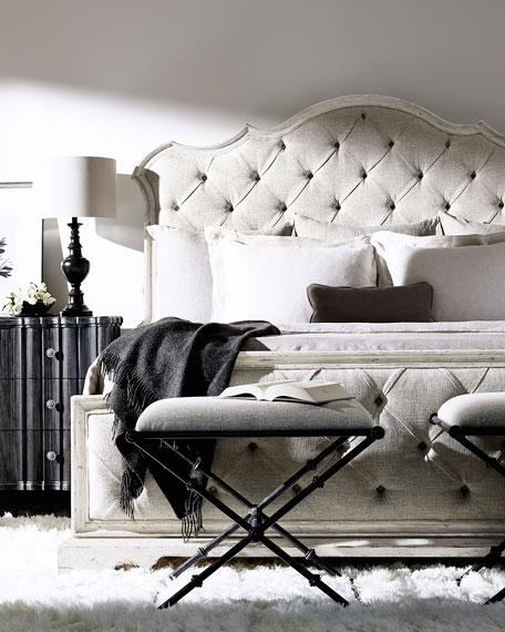 Bernhardt Mirabelle Button-Tufted Queen Bed